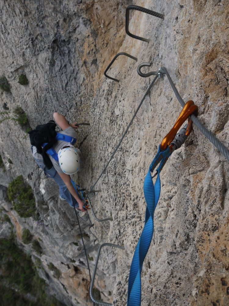 via ferrata - sports de plein air dans les Alpes Maritimes