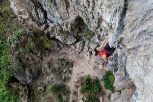 Getu He, grimpe en Chine