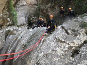 main courante canyoning Imberguet Vésubie 06