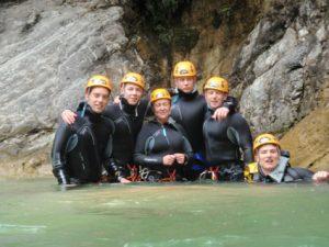 Canyoning dans le Rio Barbaira: la petite équipe suédoise!