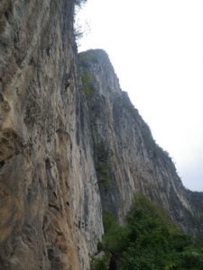 Getu He fish crag grimpe Chine