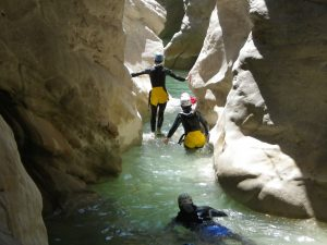 canyoning alpes maritimes in Riolan canyon, adventure for sportment!