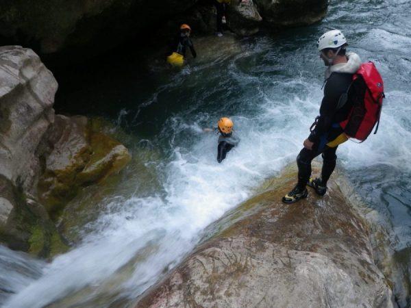Randonnée aquatique des Gorges du Loup-Alpes maritimes
