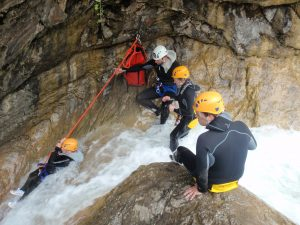 Canyoning dans le Rio Barbaira