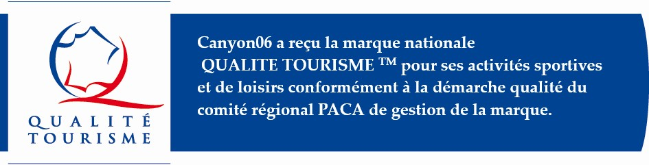 Activités sportives de plein air-Canyon06-Côte d'Azur-Qualité Tourisme