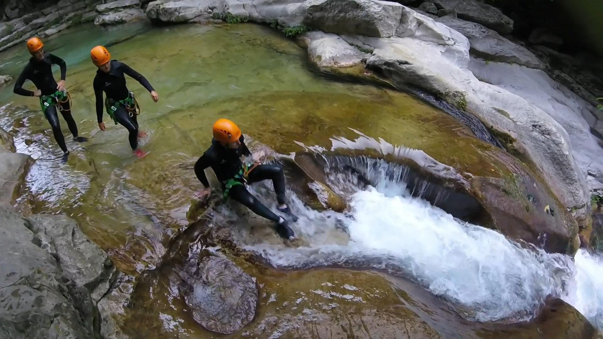 randonnée aquatique des Gorges du Loup à Nice - Canyon06
