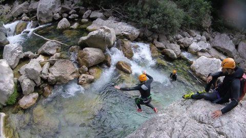 randonnée aquatique Nice-Gorges du Loup-Grasse-Canyon06