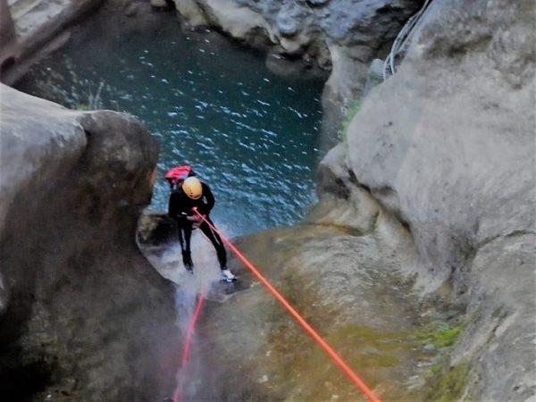 Canyoning de l'Imberguet -vallée de la Vésubie dans les Alpes Maritimes