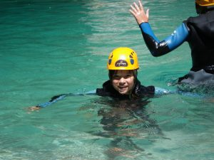 Faire du canyoning avec des enfants sur Nice Côte d'Azur